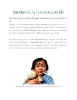 Sai lầm tai hại khi chăm trẻ sốt docx