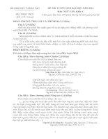 đề thi đại học môn văn năm 2010 khối c