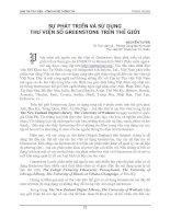 SỰ PHÁT TRIỂN VÀ SỬ DỤNG THƯ VIỆN SỐ GREENSTONE TRÊN THẾ GIỚI potx