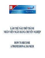 Làm thế nào để trở thành nhân viên ngân hàng chuyên nghiệp pot