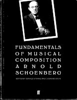 A schoenberg   fundamentals of musical composition