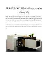 10 thiết kế tiết kiệm không gian cho phòng bếp pptx