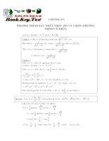 phương pháp giải phương trình lượng giác 2