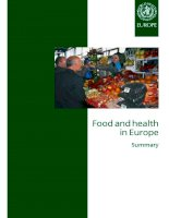 Food and health in Europe: a new basis for action pdf