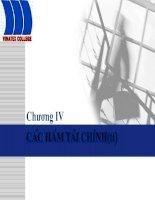 Bài giảng tin học ứng dụng: Chương IV - Các hàm tài chính (tt) pptx