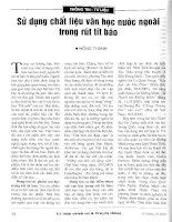 Báo cáo khoa học: Sử dụng chất liệu văn học nước ngoài trong rút tít báo pdf