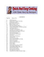 Quick and Easy Cooking pptx