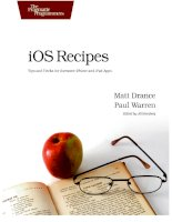 iOS Recipes: Tips and Tricks for Awesome iPhone and iPad Apps docx