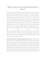 """NHỮNG """"RÀO CẢN"""" HẠN CHẾ SỰ THÀNH CÔNG CỦA PHỤ NỮ doc"""