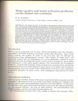 WATER QUALITY AND WATER POLLUTION PROBLEMS ON THE INDIAN SUB-CONTINENT pptx