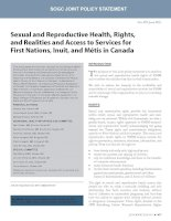 Sexual and Reproductive Health, Rights, and Realities and Access to Services for First Nations, Inuit, and Métis in Canada docx
