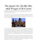 Du ngoạn cây cầu độc đáo nhất Prague (CH Czech) pdf