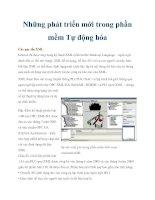 Những phát triển mới trong phần mềm Tự động hóa pdf