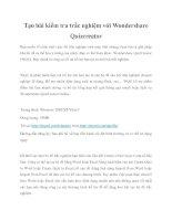 Tạo bài kiểm tra trắc nghiệm với Wondershare Quizcreator pot