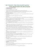 Địa lí 12 bài 9-10: Thiên nhiên nhiệt đới ẩm gió mùa pdf