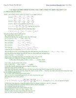CÁC bài tập điển HÌNH về tìm CÔNG THỨC PHÂN tử hợp CHẤT hữu cơ