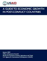 A GUIDE TO ECONOMIC GROWTH IN POST-CONFLICT COUNTRIES pptx