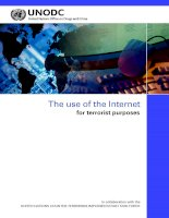 The use of the Internet for terrorist purposes potx