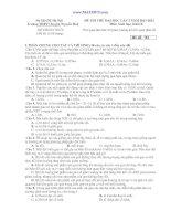 ĐỀ THI THỬ ĐẠI HỌC LÂǸ 2 NĂM 2011-2012 Môn: Sinh hoc̣ ; Khôí B docx