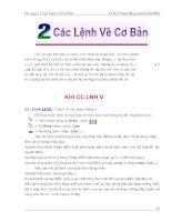 chuong (2) : các lệnh vẽ cơ bản trong Autocad