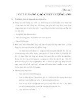 Bài Giảng Xử Lý Ảnh_Chương 3: Xử Lý Nâng Cao Chất Lượng ảnh.