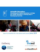 Health Education: Harnessing the Mobile Revolution to Bridge the Health Education & Training Gap in Developing Countries pot