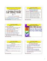 CẤP THOÁT NƯỚC - CHƯƠNG 1 TỔNG QUAN VỀ CẤP NƯỚC pdf