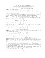 Đề thi thử học sinh giỏi có đáp án chi tiết môn toán lớp 12