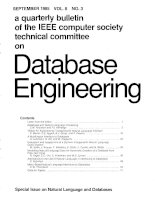 A quarterly bulletin of the IEEE computer society technical committee on Database engineering (VOL. 8) ppt