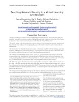 Teaching Network Security in a Virtual Learning Environment docx