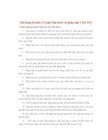 Nội dung thi môn Lý luận Nhà nước và pháp luật potx