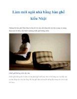 Làm mới ngôi nhà bằng bàn ghế kiểu Nhật pdf