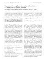 Báo cáo Y học: Mechanism of 1,4-dehydrogenation catalyzed by a fatty acid (1,4)-desaturase of Calendula officinalis pptx
