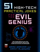 high-tech practical jokes for the evil genius