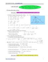 CHUYÊN ĐỀ: I. Ôn tập kiến thức cơ bản: pdf
