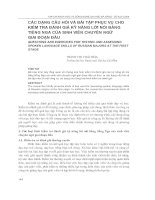 Tạp chí khoa học và công nghệ trường ĐH Đà Nẵng - số 4: Các dạng câu hỏi và bài tập phục vụ cho kiểm tra đánh giá kỹ năng lời nói bằng tiếng Nga của sinh viên chuyên ngữ giai đoạn đầu doc