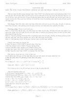 Đặt ẩn phụ giải phương trình vô tỉ