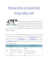 Strong form và weak form trong tiếng Anh pptx