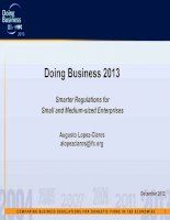 Doing Business 2013: Smarter Regulations for Small and Medium-sized Enterprises docx