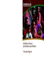 Building a Future for Women and Children The 2012 Report ppt