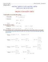 Bài tập phương trình bất phương trình chứa giá trị tuyệt đối