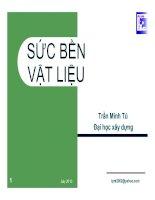 Giáo trình Sức bền vật liệu _ Chương 3 Trạng thái ứng suất pptx