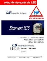 Biến tần LS - Hướng dẫn sử dụng biến tần LS dòng IS ppt