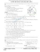Tuyển tập 80 bài tập hình học lớp 9