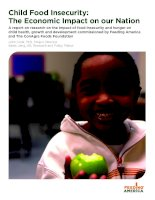Child Food Insecurity: The Economic Impact on our Nation docx