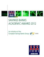 SAVINGS BANKS ACADEMIC AWARD 2012: An Initiative of the European Savings Banks Group potx