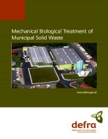 Mechanical Biological Treatment of Municipal Solid Waste ppt