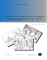 Vocabulary and picture prompts for language teaching - book 1 ppt