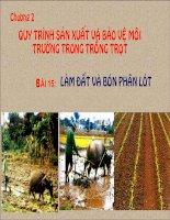 quy trình sản xuất và bảo vệ môi trường trong trồng trọt
