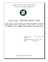 Báo cáo đồ án trí tuệ nhân tạo : GIẢI THUẬT TÌM KIẾM THEO CHIỀU SÂU (DEPTH FIRST SEARCH)